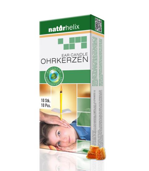 Naturhelix - Bio Ohrkerzen Natur   ( 10 Stück)