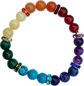Armband 7 Chakren - elastisch