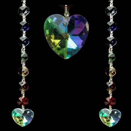 Kristall: Aurora Herz Feng-Shui Chakra Kristall-Kette