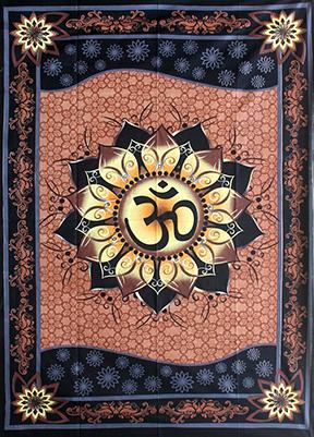 Wandteppich Om Lotus
