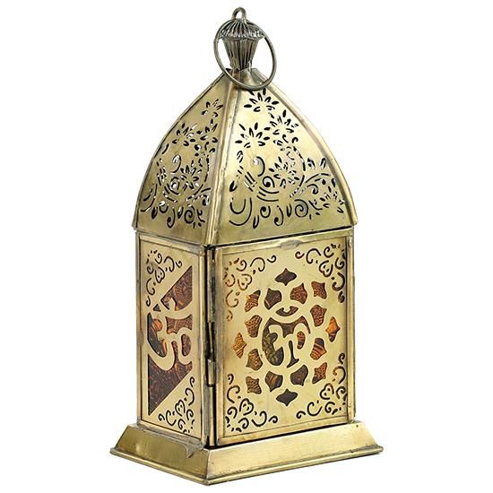 Orientalische Laterne - OHM Lotus  Kerzenhalter