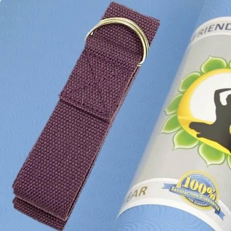 Yogagurt mit D-Ring Schnalle - violett - Baumwolle