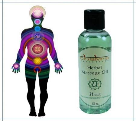 Ayurvedisches  Massageöl 4. Chakra Herzchakra Anahata