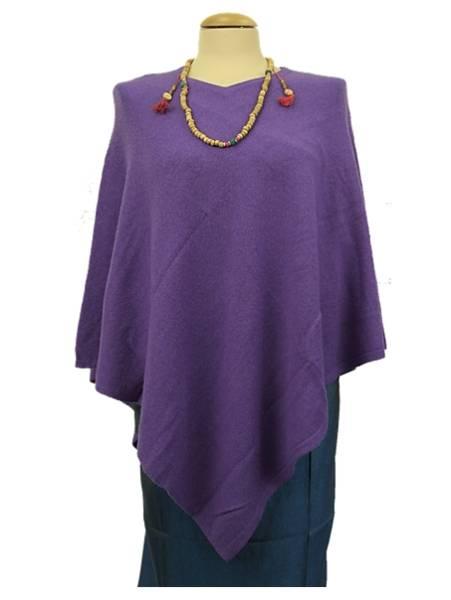 Meditation Poncho Cashmere violett