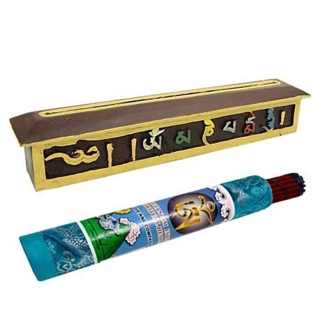 Räuchergefäß - mit Tibetischer Dekoration OMPMH