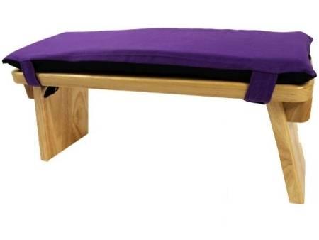 Meditationsbank-Kissen Baumwolle - violett