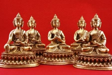 Dhyani Buddhas Mini-Statuen
