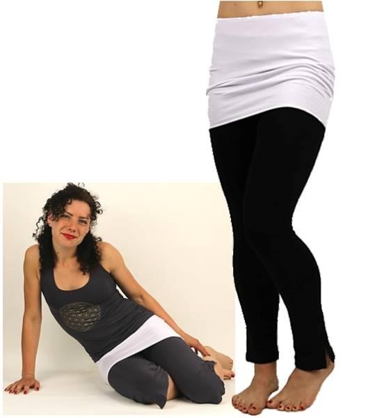 "Yoga Minirock ""Satya""  - Einheitsgröße weiß"