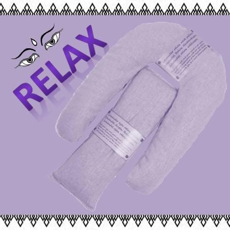 Augen und Nackenkissen relax set, lavendel- violett