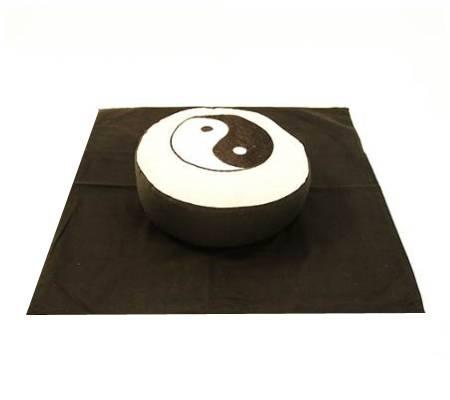 MeditationsSET Yin Yang Symbol - creme/schwarz