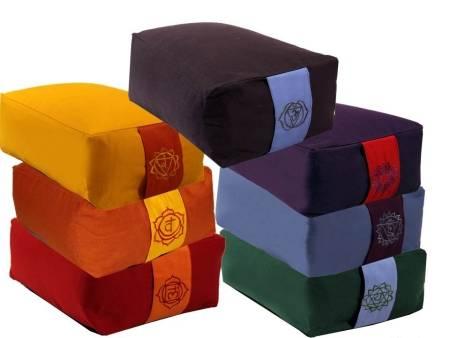 Meditationskissen rechteckig SET 7 Chakras