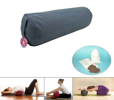 Yoga Bolster – Rolle – Anthrazi