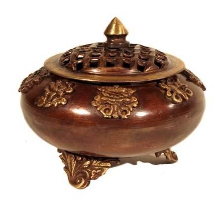Weirauchfaß Tibetische 8 Prosperität Symbole
