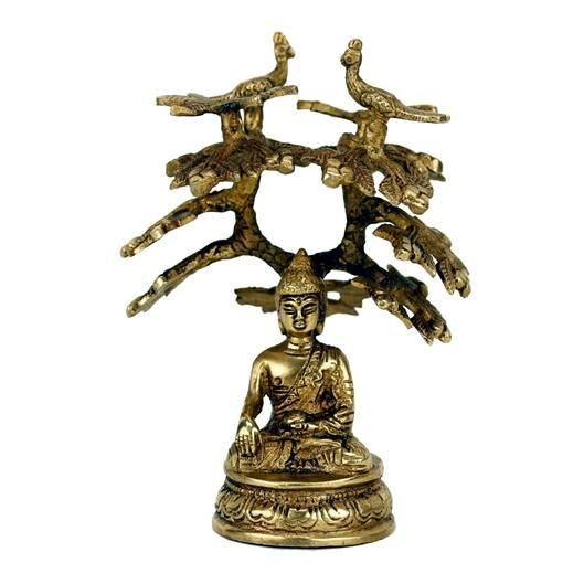 Shakyamuni Buddha mit Bodhi-Baum