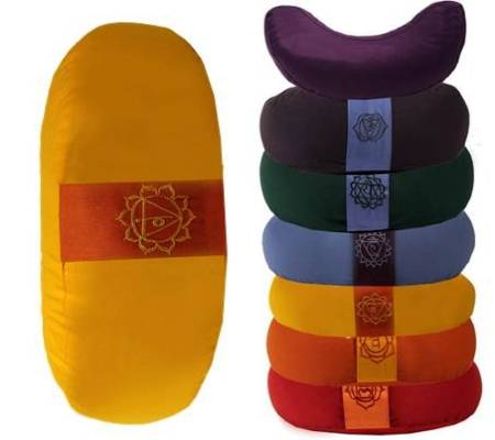 Halbmondförmiges Meditationskissen mit Reißverschluss und Innenkissen