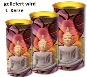 Buddha Meditationskerze