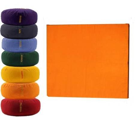 Meditationsmatte ohne Schaumstoff orange - 2e Chakra Swadhisthana