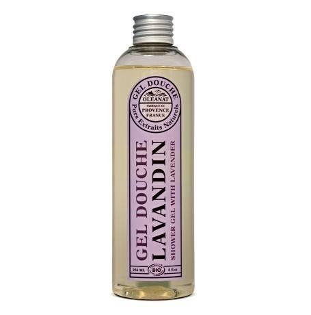 Bio Duschgel mit ätherischem Lavandinöl (hybrider Lavendel) - BIO / Ecocert - Oléanat