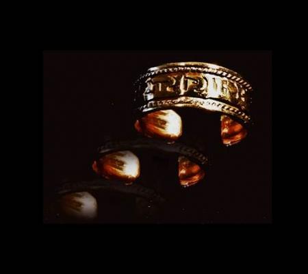 Ring Tibet mit Om Mani Pad Me Hum - verkupfert 1 cm