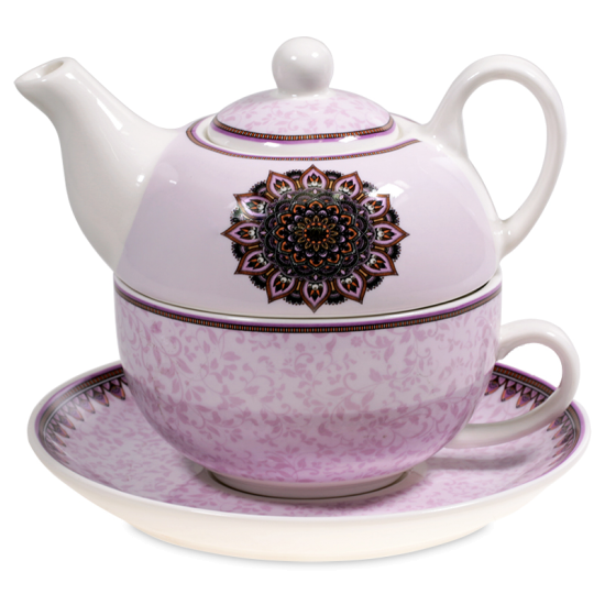 Tea for One Mandala lila