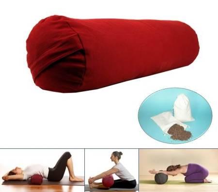 Yoga Bolster – zylindrisch rot