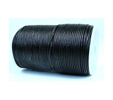 Lederbänder aus Rindleder schwarz; Ø 1.5mm