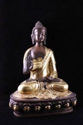 Buddha, Mudra der Lehre, zweifarbig