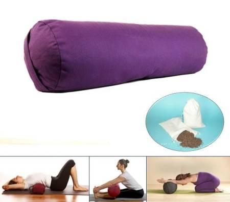 Yoga Bolster Mani Bhadra Zylindrisch Violett