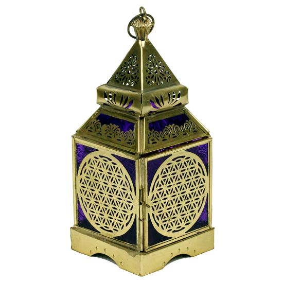 Orientalische Laterne 'Blume des Lebens'