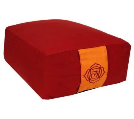 Yoga-Polster /Meditationskissen - rot 1.Chakra Muladhara