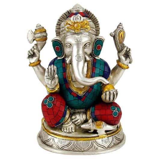 Ganesha Statue mit Mosaikdekoration