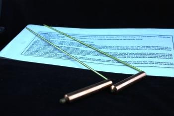 Wünschelrute pro Paar aus Messing/Kupfer 34x13