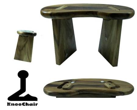 Meditationsbank - zusammenklappbar - für die Reise oder Kinder - Acazienholz
