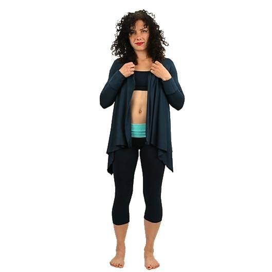 Yoga-Überwurf 'Sukha' -  Einheitsgröße blaugrün