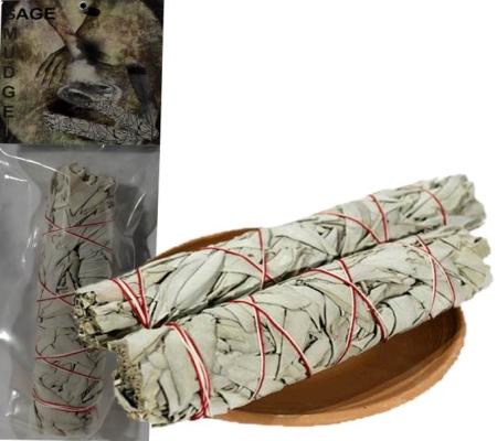 Räucherware Weißer Salbei Bündel - mittelgroß - verpackt