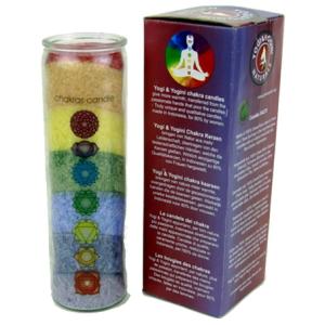 7 Chakra Regenbogen Duftkerze mit ätherischen Ölen