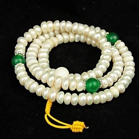 Mala Perlen und grüner Onyx