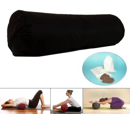 Yoga Bolster – Rolle – schwarz