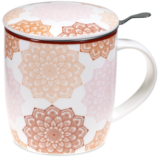 Set Teetasse Mandala rosa