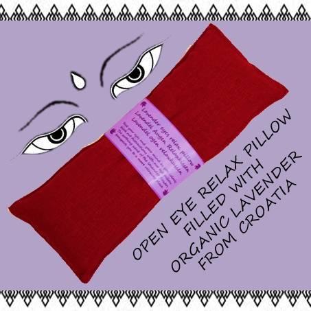 Augenkissen Lavendel rot